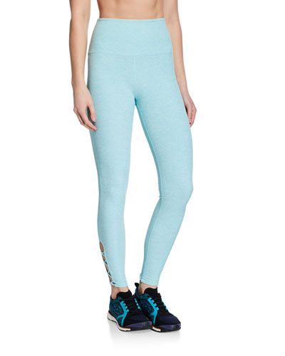 Crossed My Mind High-Waist Midi Leggings