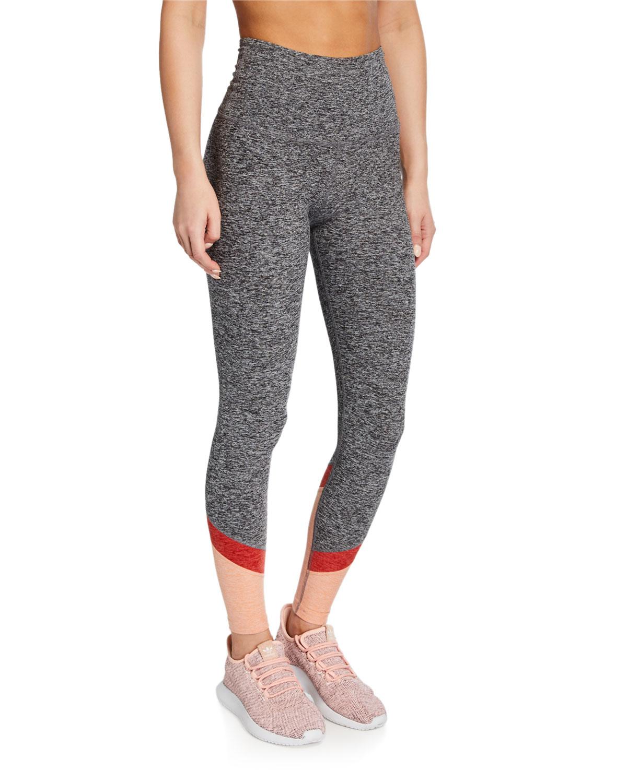 Beyond Yoga Pants COLOR IN HIGH-WAIST COLORBLOCK LEGGINGS