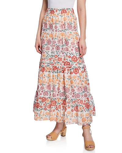 c8341ae4a9 Quick Look. LAIA LABEL · Teka Tiered Floral-Print Maxi Skirt