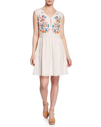 Gabriela Embroidered Sleeveless Dress