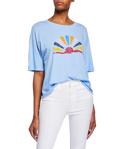 Jess Graphic-Printed Short-Sleeve Cotton Tee