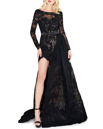 ecfebb8ecc Bateau Neckline Polyester Gown
