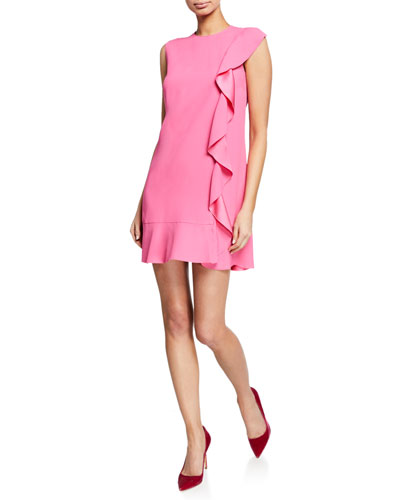 03f91cc33c4a Quick Look. REDValentino · Sleeveless Mini Crepe Dress with Satin-Back  Ruffle