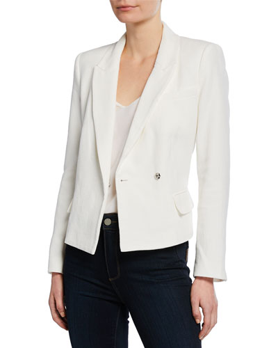 Gaga Asymmetrical Single-Button Jacket