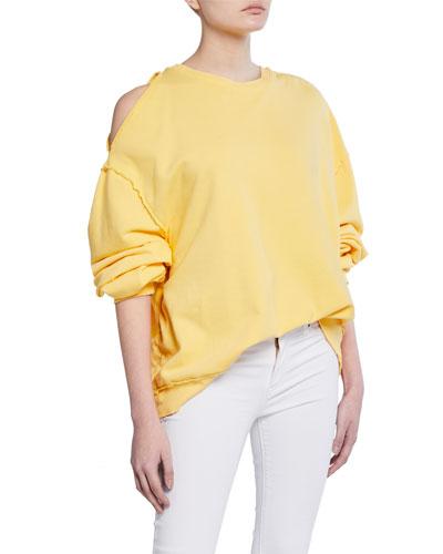 Open-Shoulder Oversized Sweatshirt