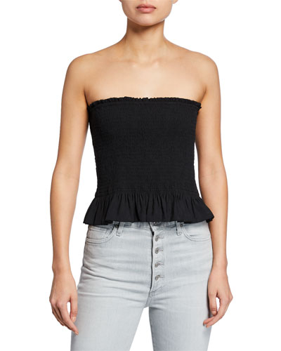 ded42b075797de Quick Look. Rebecca Minkoff · Dolly Strapless Smocked Top
