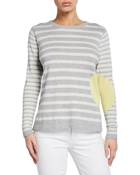 Lisa Todd Plus Size Striped Dot Long-Sleeve Cotton Sweater