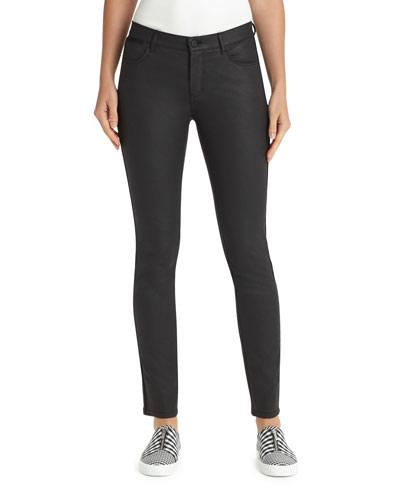 Mercer Skinny-Leg Waxed Denim Jeans