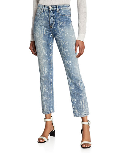 Nina High-Rise Ankle Cigarette Jeans