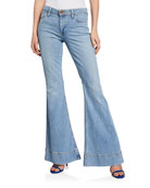ALICE + OLIVIA JEANS Beautiful Mid-Rise Bell Jeans