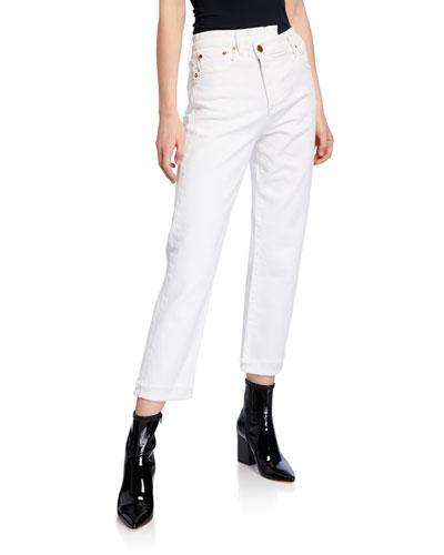 Amazing Asymmetrical Slim Straight Jeans