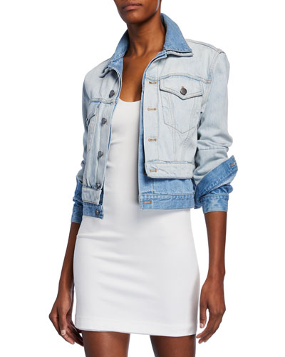Two-Tone Double Denim Jacket