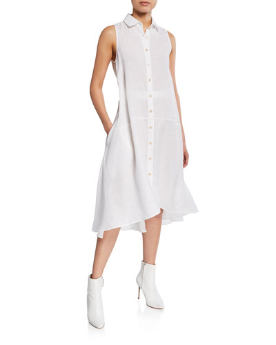 e9dcabc887e Collared Sleeveless Shirt Dress