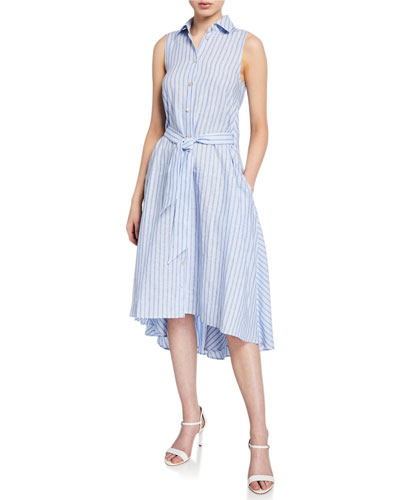 58bc62d362b Quick Look. palmer  harding · Sedona Striped Linen Button-Front Dress