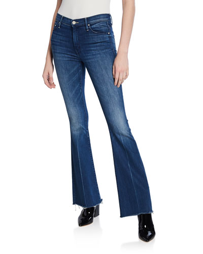 The Weekender Frayed Boot-Cut Jeans
