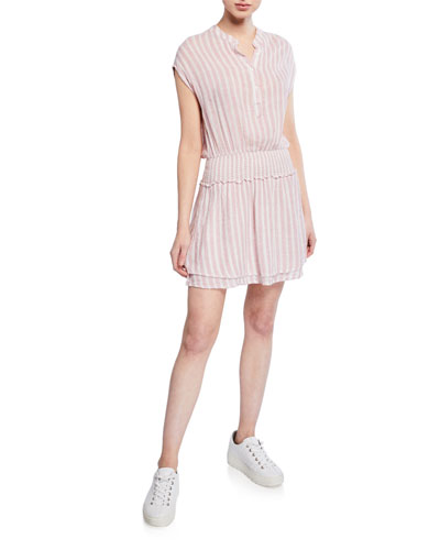 Angelina Striped Short-Sleeve Dress
