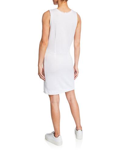 Sleeveless Distressed Dress