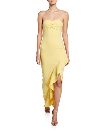 Carissa Strapless Ruffle Gown