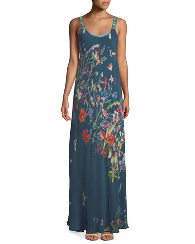 f8ae606564764 Quick Look. Johnny Was · Petite Floral-Print Maxi Tank Dress. Available in  Multi