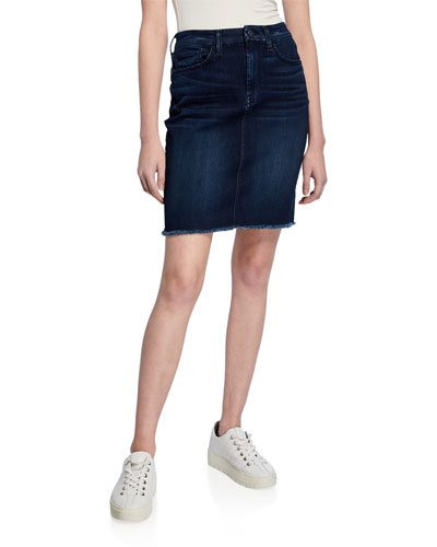 2019 Latest Design Light Pink Denim Mini Skirt A-line Destroyed Jeans Organic Cotton Medium 50%off Clients First Women's Clothing Skirts