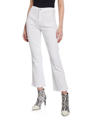 High-Waist Slim Kick Crop Jeans