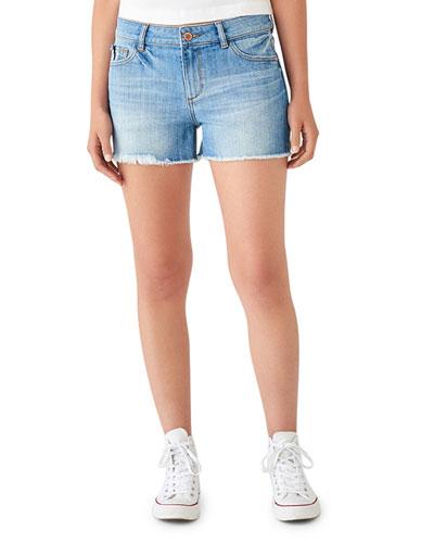 Karlie Denim Boyfriend Shorts
