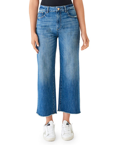 Hepburn High-Rise Cropped Wide-Leg Jeans
