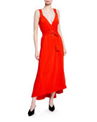 A.L.C. Haley Belted Sleeveless Long Dress