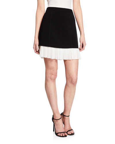 Catriona Pleated Hem Skirt