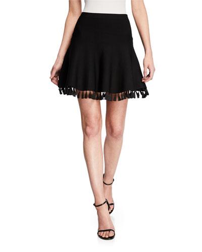 Azalea Tassel-Hem Skirt