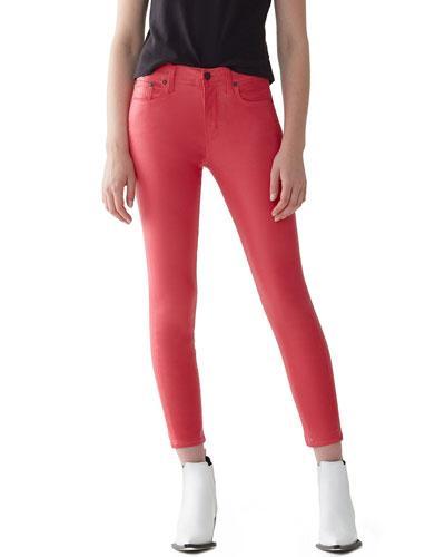 Sophie High-Rise Skinny Cropped Leatherette Jeans