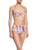 kate spade new york high-waist geo-print bikini bottoms