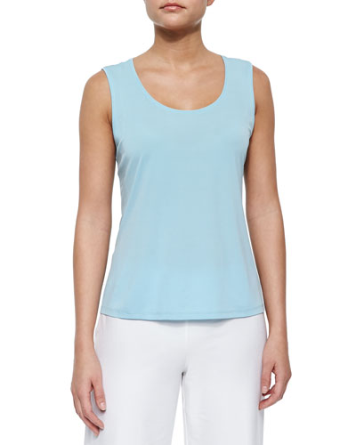 Plus Size Tencel Jersey Scoop-Neck Tank Top