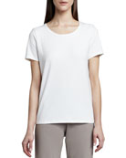 Eileen Fisher Petite Stretch Organic Cotton Tee