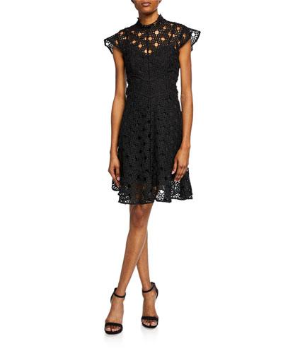 Mila Floral Lace A-line Dress