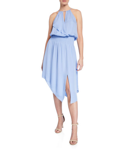 Herley Silk Asymmetric Halter Dress