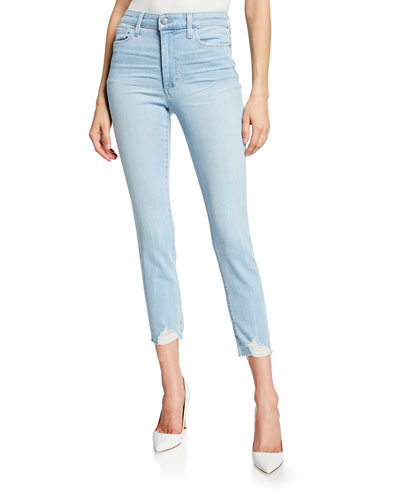 The Charlie Crop Skinny Jeans with Destroyed Hem