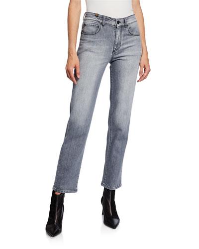 Aloha Cropped Straight-Leg Jeans