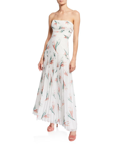 0d01277e5c53 Quick Look. Fame and Partners · Floral-Print Strapless Pleated Maxi Dress