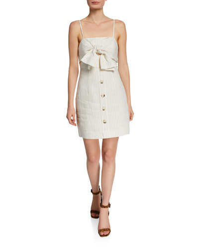 9490ba51158 Back Zip Linen Dress