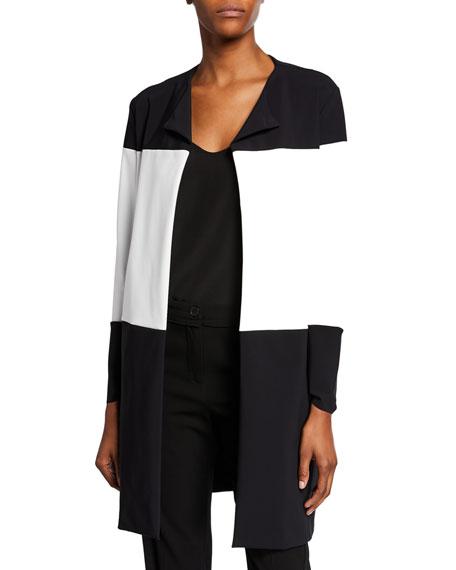 Chiara Boni La Petite Robe Sibylle Colorblock Open-Front Jacket