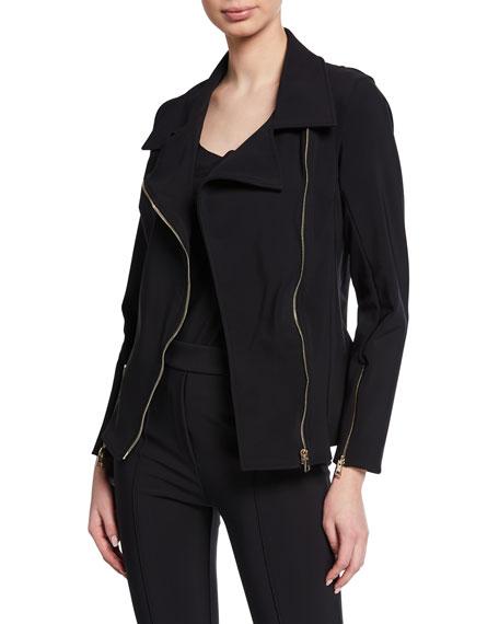 Chiara Boni La Petite Robe Kiodo Zip-Front Moto Jacket