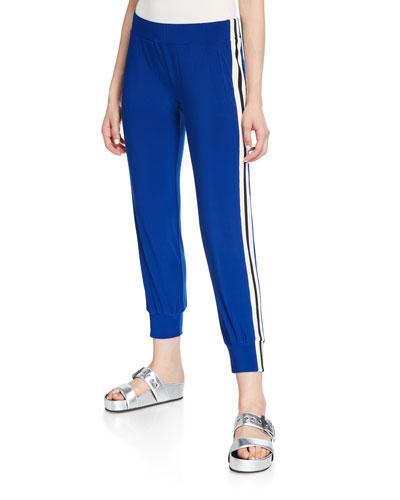 Side-Stripe Sporty Jogger Pants