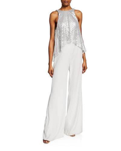 15009b204d3 Quick Look. SHO · Sleeveless Wide-Leg Jumpsuit with ...
