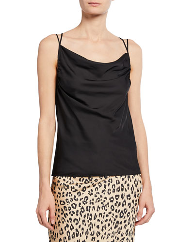 0858c349e35509 Quick Look. Bailey 44 · Undulating Strappy Cowl-Neck Top. Available in Black