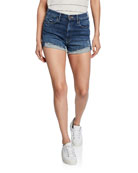 MOTHER The High Waisted Rascal Distressed Shorts