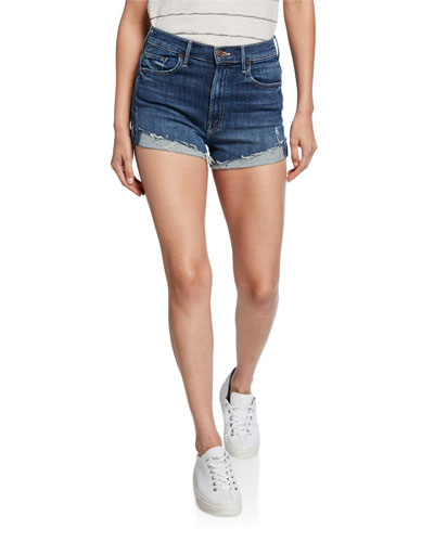 The High Waisted Rascal Distressed Shorts