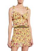 For Love & Lemons Beaumont Floral Crop Top
