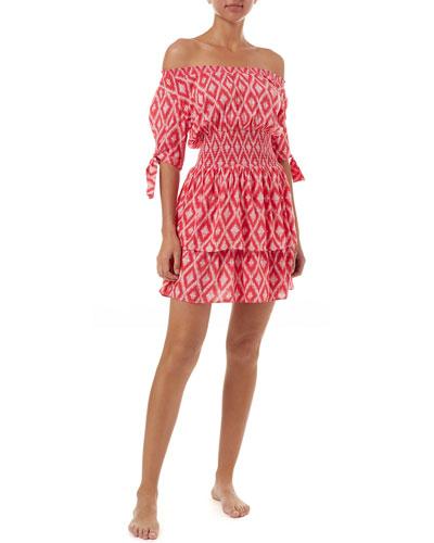 937cd773c453 Quick Look. Melissa Odabash · Camilla Printed Off-Shoulder Coverup Dress