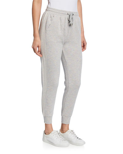 Drawstring Jogger Pants with Side Stripe